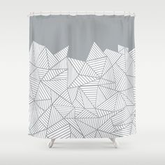 Abstract Mountain Grey Shower Curtain by Project M. Worldwide shipping available at Society6.com. Just one of millions of high quality…