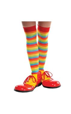 Add fun to any costume with our Rainbow Striped Knee High Socks! Rainbow Striped Knee High Socks feature a fun multicolor design with added stretch for comfort fit. Rainbow Striped Knee High Socks come as a pair each 24 long. Striped Knee High Socks, Cute Pjs, Urban Planet, Up Costumes, Partying Hard, Crazy Socks, Funny Socks, High Knees, Leg Warmers