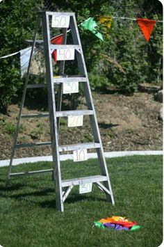 Bean bag ladder toss ~ diy carnival game idea ~ 32 Of The Best DIY Backyard Games You Will Ever Play