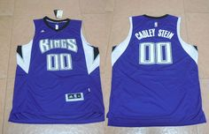Sacramento Kings #00 Gauley Stein Blue Men 2017 New Logo NBA Adidas Jersey