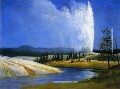 Albert Bierstadt Old Faithful, painting