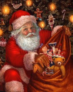 by Ruth Sanderson.   And a sack full of toys.