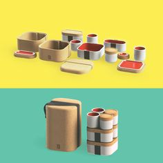 MODULE // stoneware lunchbox by amarilis dias, via Behance