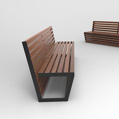 Public bench / contemporary / wooden / stainless steel FILO Bottega 7