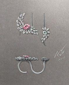 High Jewelry, Modern Jewelry, Jewelry Art, Jewelry Necklaces, Music Jewelry, Diy Jewellery, Jewellery Storage, Ring Sketch, Bijoux Art Nouveau