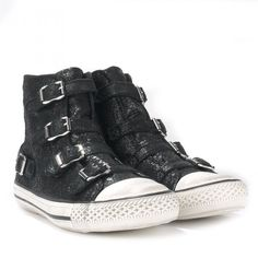 Ash VIRGIN Buckle Trainers Textured Cracked Black Leather    http://www.ashfootwear.co.uk/womens-c1/ash-virgin-buckle-trainers-textured-cracked-black-leather-p1576