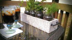 Rustic Mason Jar Herb Garden Planter w/o Jars by RedClayWoodworks