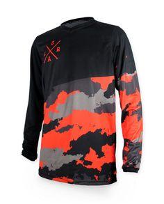 Loose Riders Herren TEAM ISSUE orange Jerseys Langarm.Sportwear,Radsport Style
