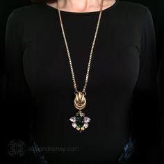 Anton Heunis 'Les Demoiselles' Vintage Heart Gold Knot Long Pendant Ne | Alexandra May Jewellery