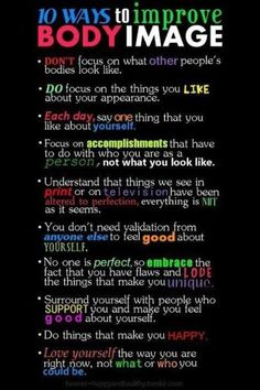 10 ways to improve Body image