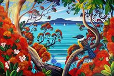 Irina Velman Irina Velman is a West Auckland artist whose paintings can be found in private collections throughout the world. Known for her distinctive style and vibrant colours, Irina's inspiration comes from the dramatic beauty of New Zealand. New Zealand Image, New Zealand Art, Traditional Decorative Art, Irina S, Fine Art Prints, Framed Prints, Nz Art, Maori Art, Kiwiana