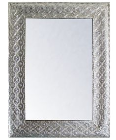 Espejo con marco plateado Espejos Pinterest