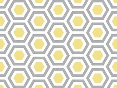 Yellow and grey hexagonal pattern, would love on accent chair for master redo
