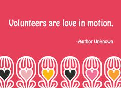 Happy Valentine's Day to all our volunteers, partners and supporters!