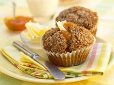 A healthy breakfast recipe is Raisin Bran Breakfast Muffins. These are good, as you can take them with you if you got up late and don