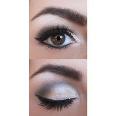 27 Pretty Makeup Tutorials for Brown Eyes ❤ liked on Polyvore featuring beauty products, makeup, eye makeup and eyes