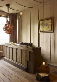 traditional front desk with panel detail