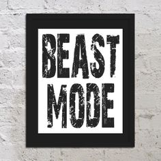 Beast Mode Motivational Inspirational Art Print Poster 8x10 DIY Digital Printable PDF Saying Quote Picture Typography Sports