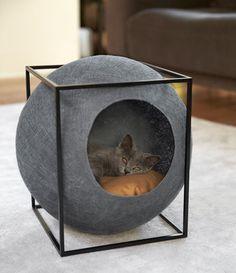 Дизайнерская мебель для животных: домики для кошек в современном интерьере   AD Magazine