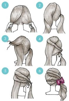 Simple tutorials to style hair