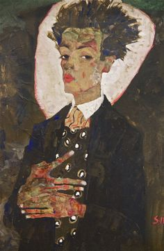 Egon Schiele, self portrait. At the Leopold Museum in Vienna/Wien. Photo: Åse Margrethe Hansen, 2013