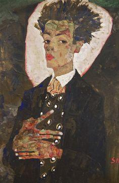Egon Schiele, self portrait. At the Leopold Museum in Vienna/Wien. Photo: Åse Margrethe Hansen, 2013