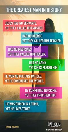 The greatest man in history. #Jesus #mycatholictshirt