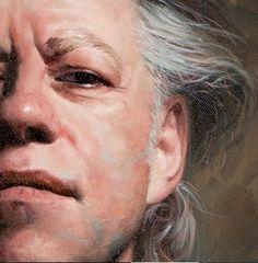 Mitch Griffiths, Portrait of Bob Geldof, Oil on canvas
