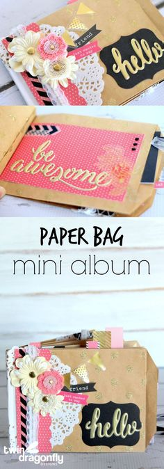 Paper Bag Mini Album Long Collage