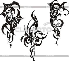 Tribal Tattoo Designs | Stock Vector Graphics | CLIPARTO