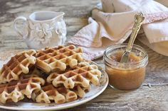 Gingerbread Waffles...1 1/2 cup almond flour, 1 1/2 cup brown rice flour (the top two flours can be replaced with all purpose flour for non-gluten free), 1/2 tsp salt, 1 tsp baking soda, 2 tbsp brown sugar, 1 tsp ginger powder, 1/2 tsp cinnamon, 4 eggs, 1 1/2 tbs molasses, 1/2 cup plain yogurt, 1 very ripe banana, mashed, 1/2 cup skim milk.