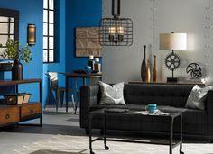Lighting & Decor by LampsPlus.com - love the blue walls...