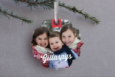 Snow Ribbon by Alex Elko Design at minted.com- Ornament Christmas cards from the rugrats, love