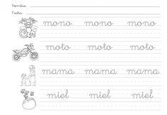 26pautas_abecedario Cursive Handwriting, Handwriting Worksheets, Spanish Lessons, Teaching Spanish, Learn Spanish, Grande Section, Daily Activities, Kindergarten Worksheets, Writing A Book