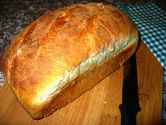 This recipe for Beer Bread has a fine grain, firm crust, light volume, nice moist quality plus a slight taste similar to sourdough. I use the bread machine as a convenience - to make the dough and proof it. Then I interrupt the cycle just prior to the baking function so I can shape to a regular loaf pan, give it an extra and final rise, and bake in the oven. That way I have a nicely shaped loaf without the gaping hole in bottom from the kneading blade.  Yield: 1 pound 6 ounce loaf.