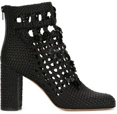 Valentino Garavani 'Garden Party' woven ankle boots $5,145 - Click Pic For Full Specs