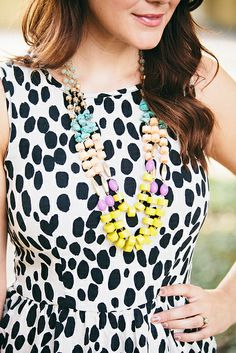 mixed up prints and baubles