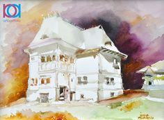 Watercolor, Country, Romania, Artwork, Painting, Pen And Wash, Watercolor Painting, Work Of Art, Rural Area