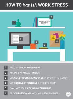 How to Banish Workplace Stress #health101 #tipsandadvice #greatist