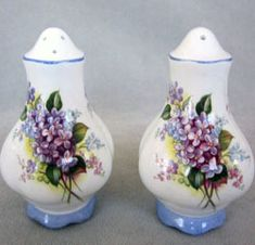 Royal Albert - Lilac Blossom Salt and Pepper shakers--Blossom Time Series - Series www.royalalbertpatterns.com