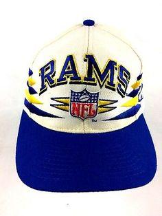 e6dc7b8865f Los-Angeles-Rams-VTG-Snapback-Hat -Logo-Athletic-Pro-Line-NFL-Diamond-Logo-90-039-s