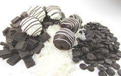 Dark chocolate coconut macaroons dipped in dark and white chocolate.....totally amazing!