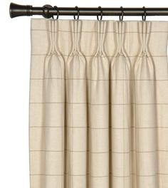 Drapery Panels-Franklin Vanilla Curtain Panel from Eastern Accents