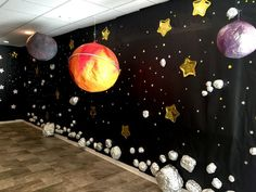 Stars backdrop, black backdrop, camping blackdrop, vbs2017, vbs props, Vacation Bible School, Vacation Bible School 2017, galactic Starveyors, lifeway vbs theme, Vacation Bible School space theme, Vacation Bible School camping theme, moon prop, diy moon, paper mache moon, giant moon prop, asteroid prop, space props, paper mache planets, diy planets, astronaut prop, astronaut costume, diy astronaut prop IG: ihavethecoolestgoatever
