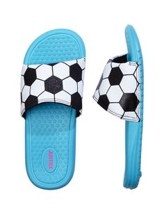 promo code 97c47 d47df soccer slides from Justice  kids Soccer Theme, Soccer Gear, Kids Soccer,  Soccer
