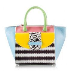 Ballin - AMAL medium multicolor leather tote bag