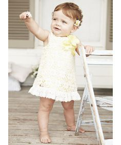 Mothercare Yellow Lace Shift Dress - dresses - Mothercare