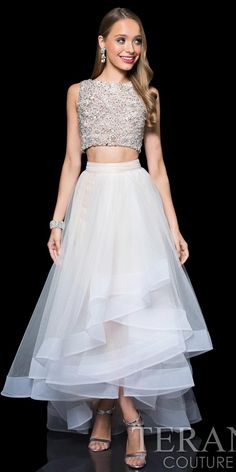 Rochelle Rhinestone Two Piece Prom Dress by Terani Couture