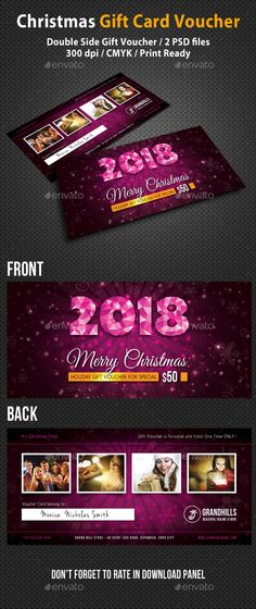 Christmas and New Year Gift Voucher, Discount Coupon Template - discount coupon template