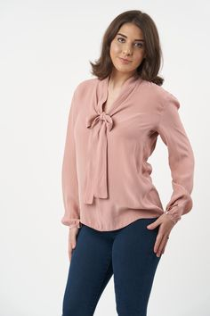 The Pussy Bow Blouse is a beautiful, classic design that will always be in style. With two different style options, you can choose between a v-neck version or a keyhole opening. The blouse sewing pattern features full-length sleeves with a cuff, a slightly dropped shoulder, and a loose-fitting dartless bodice. Stylish and versatile, the dressmaking project perfect for the office but can be dressed up for a night out. We promise it'll be the perfect accompaniment to your favourite pencil… Sew Over It, Bow Blouse, Work Wardrobe, Dressmaking, Different Styles, Vintage Inspired, Night Out, Sewing Patterns, Dress Up